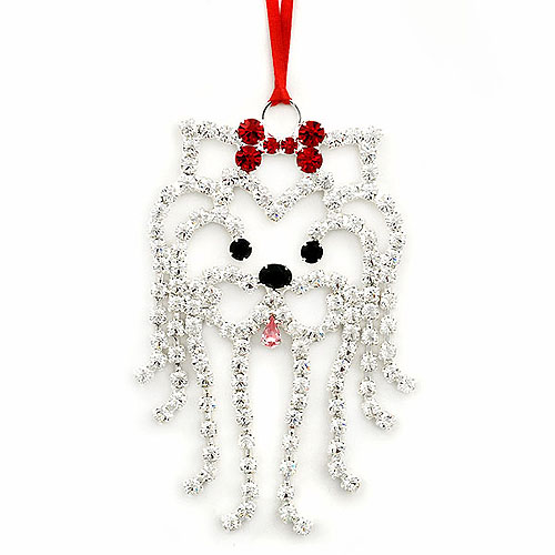 Rhinestone Dog Breed Specific Pendants, Ornaments Jewelry