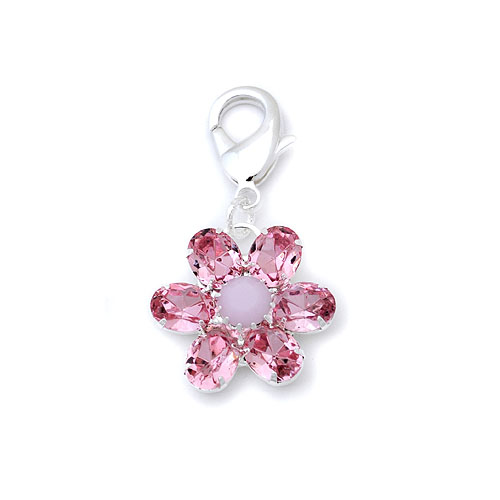 FLOWER RHINESTONE COLLAR CHARMS