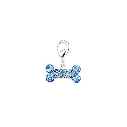 RHINESTONE BONE COLLAR CHARMS