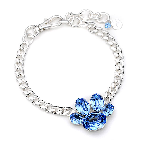 Rhinestone Paw Pet Necklace Jewelry Collar