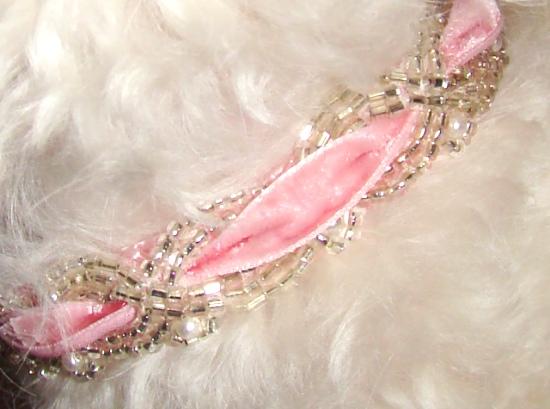 Ultra Femme Beaded Velvet Ribbon Collar