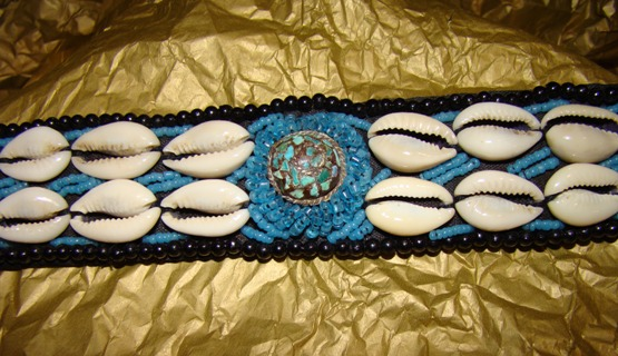 Beaded Shell Big Dog Collar