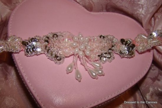 Pearl Sparkle on Pink Collar