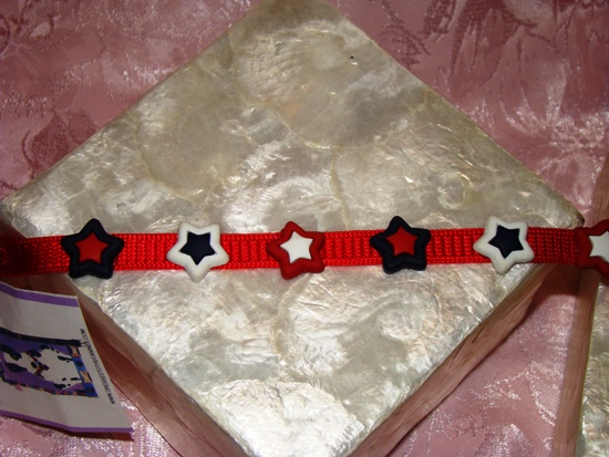 RED WHITE BLUE STARS COLLAR