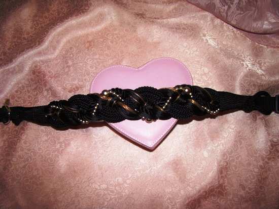 Braided Black Gold Beauty Dog Collar