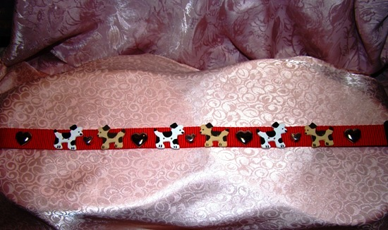 Puppy Dog Hearts dog collar