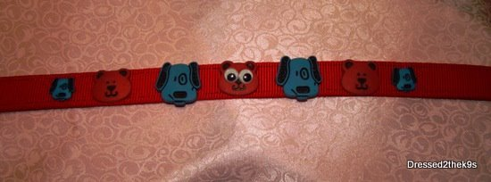 Red and Blue Puppy Dogs Collar
