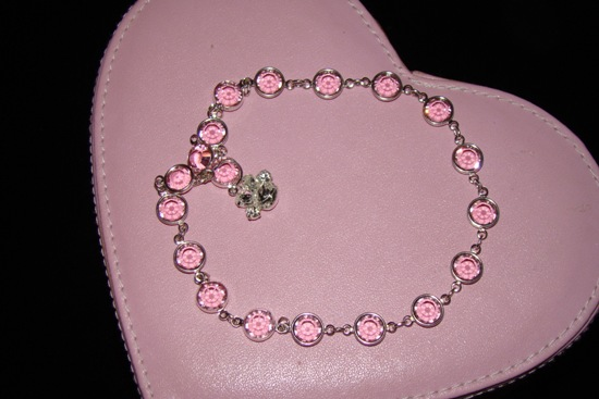 Swarovski Rhinestone Pink dog or cat Necklace