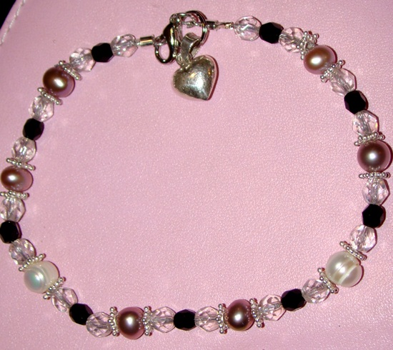 Pink White Pearls,Jet,crystal AB necklace,Pet Jewelry,Collar