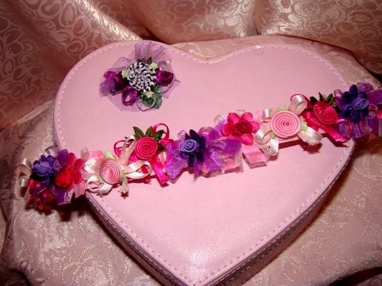 Pretty in Pink Ribbon Collar