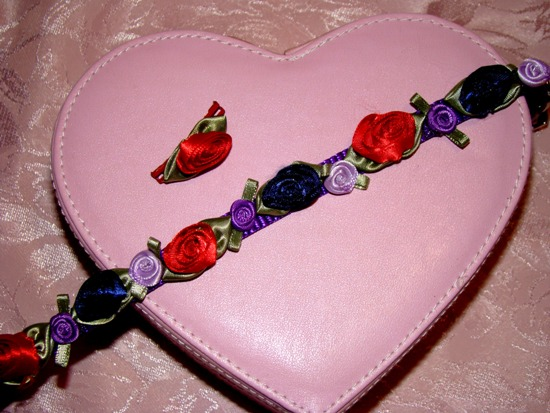 Multi Satin Rose Collar