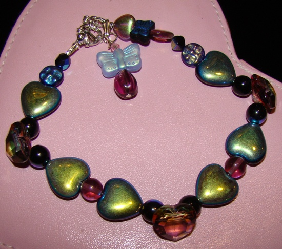 Iridescent Crystal Hearts Pet Jewelry
