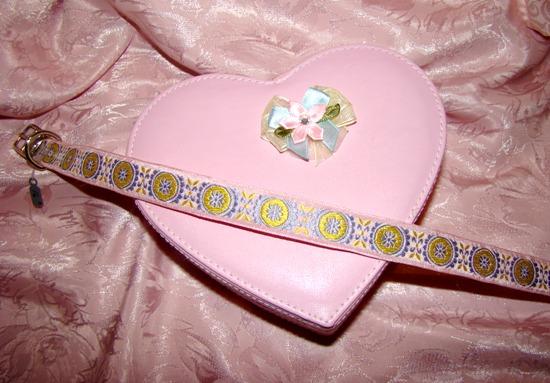 Pink Yellow Medallion Ribbon Collar