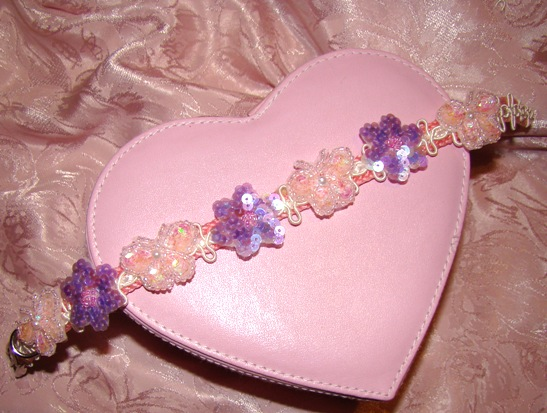 Pink & Lavender Sequin Butterfly Collar