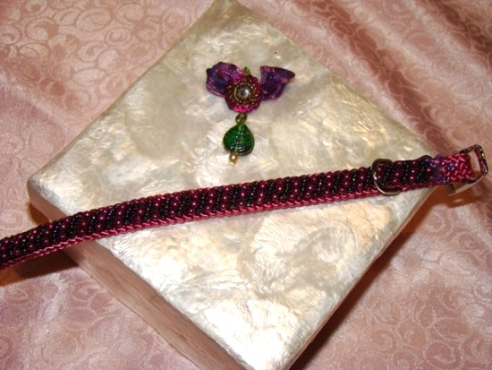Beaded Raspberry Beauty Collar