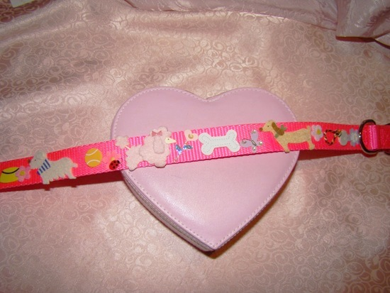 Pink Poodle & Puppy Collar