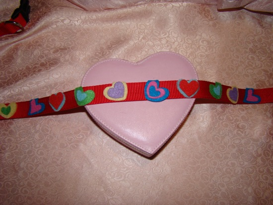 Felt Hearts Dog Collar
