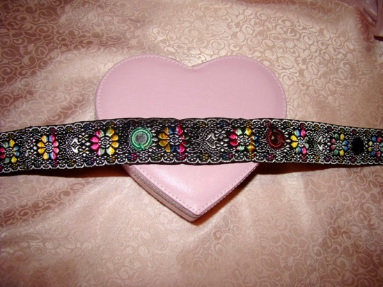 Ethnic Ribbon Mirrors Dog Collar