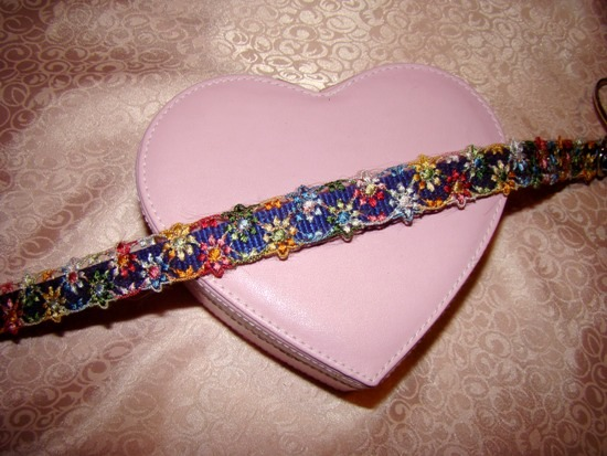 FLORAL RIBBON DOG COLLAR