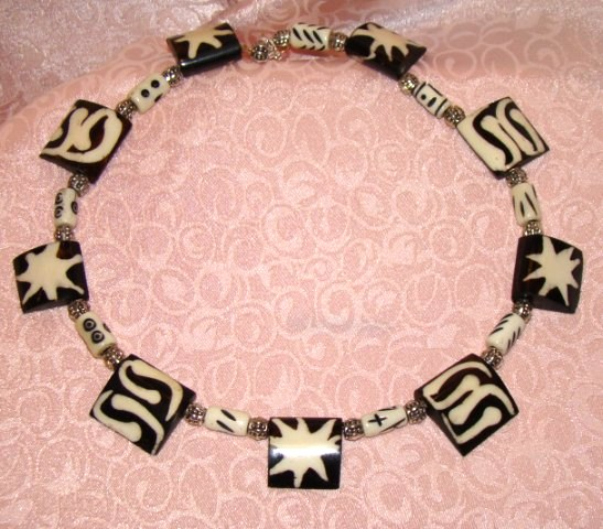 African Bone Beauty Collar Jewelry