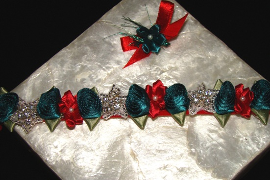 Starlite Holiday Rhinestone Collar