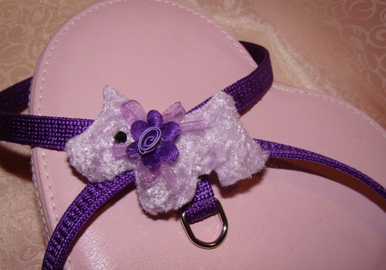LAVENDER FLUFFY PUPPY HARNESS
