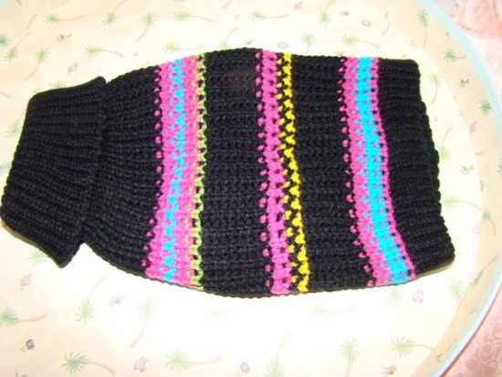 MULTI STRIPES DOG SWEATER