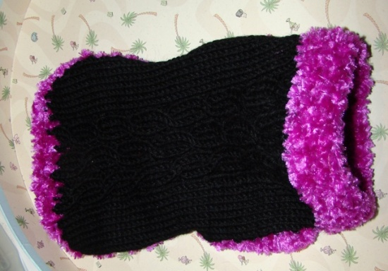 Black Fuchsia trim dog sweater