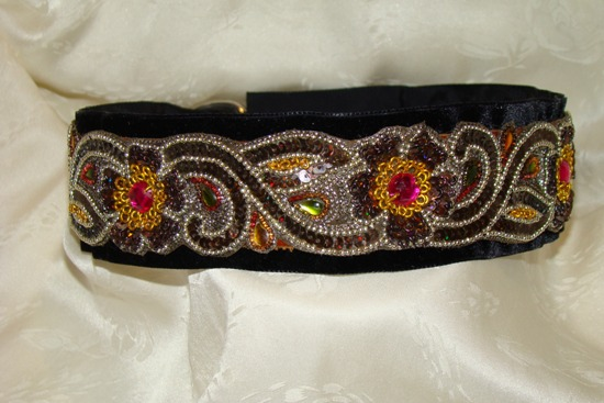 Chocolate Beaded Beauty dog collar