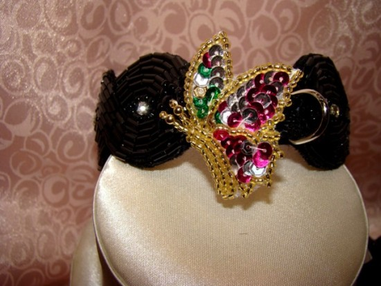 ATTACHMENT N-butterfly dog collar attachments,sequins,beaded