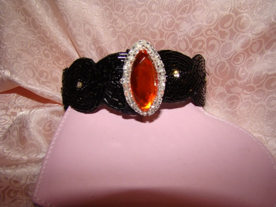 Large Jewel collar attachment-jewel,rhinestone,collar attachment,beads,marque shape