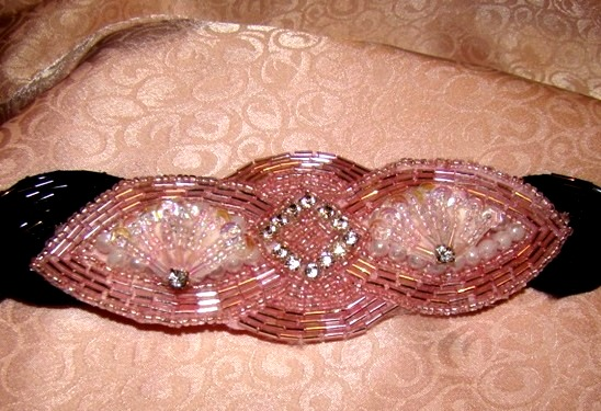 PINK FANS RHINESTONE COLLAR ATTACHMENT