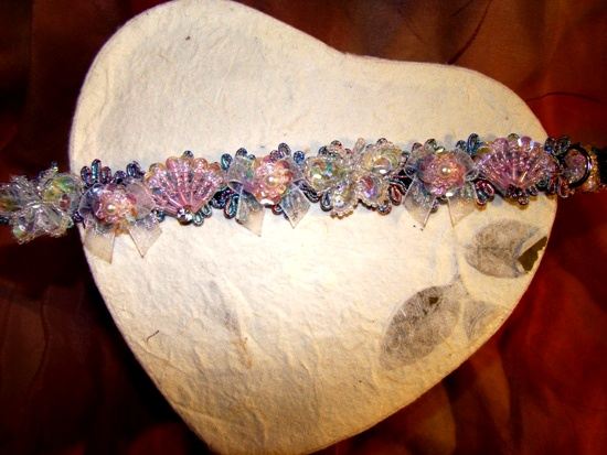Pearl Pastel Fans & Butterflies Collar