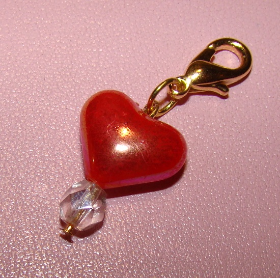 Red Heart Collar Charm