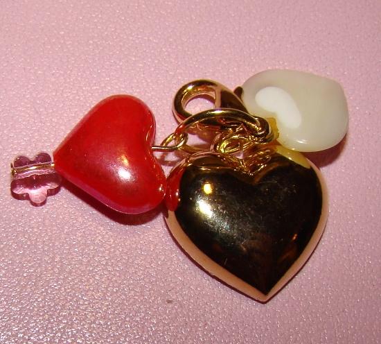 3 Hearts Collar Charm