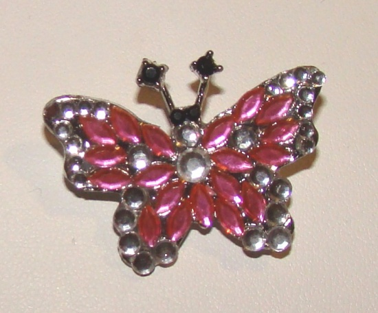 JUST JEWELS BUTTERFLY ATTACHMENT-RHINESTONE BUTTERFLY,DOG COLLAR ATTACHMENT