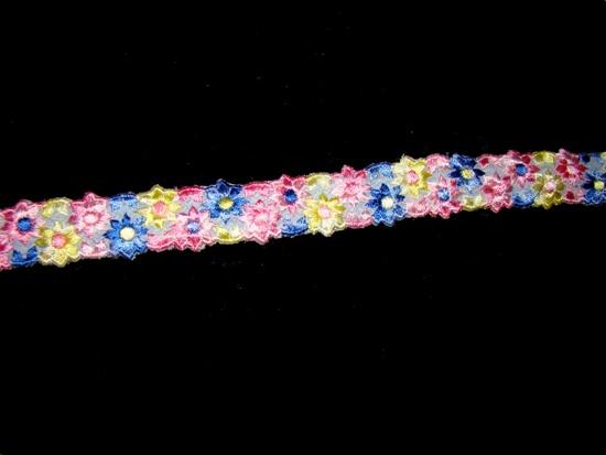 Festive Flowers Ribbon Collar