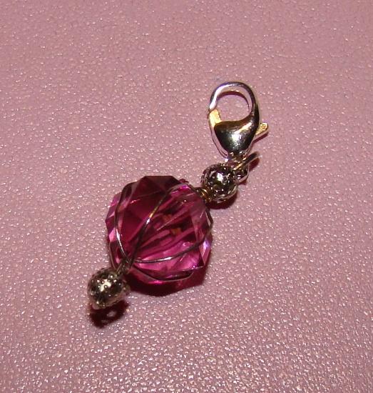 Pink Jewel Collar Charm
