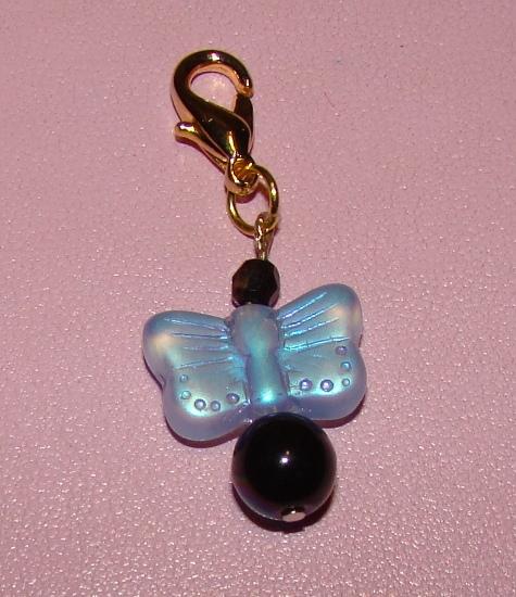 Butterfly glass gems collar charm