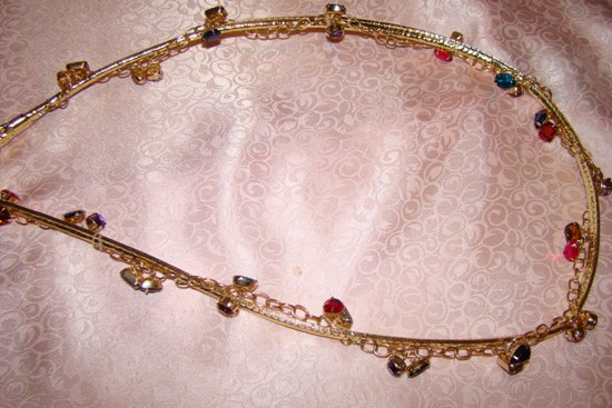 Gold Jeweled Leash