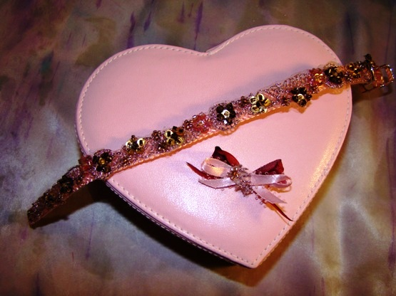Bronze and Pink Beaded Beauty Collar