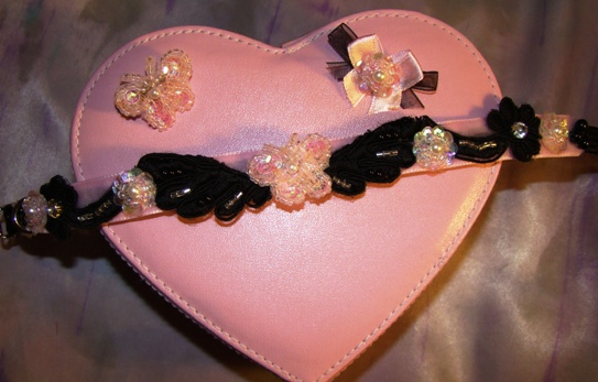 Pink and Black Butterfly Collar