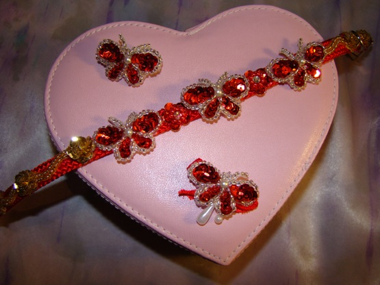 Red Sequin Butterfly Collar