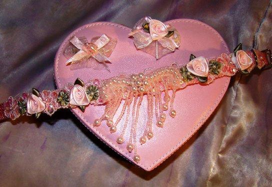 Pink Pearl Dangle Rose Garden Collar