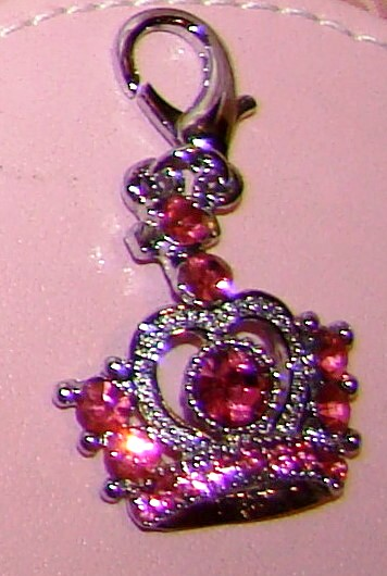 Rhinestone Royal Crown Collar Charm