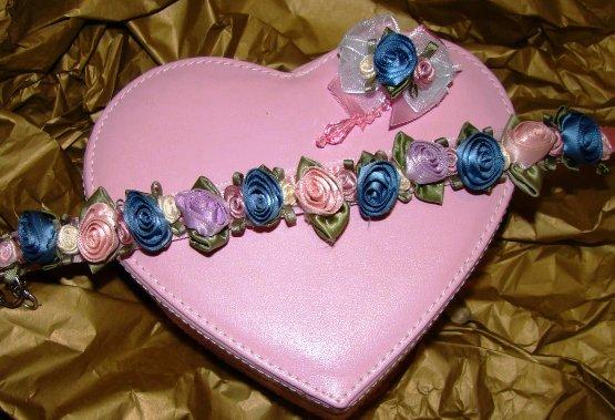 Pastel Satin Roses Collar