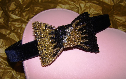 Black Tie Dog Collar
