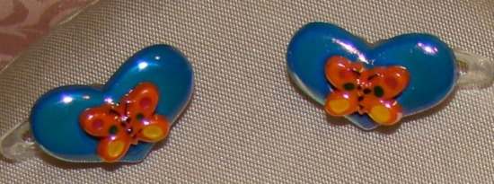 HEART HAIR CLIPS BLUE