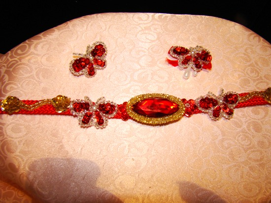Red Jewel Butterfly Collar