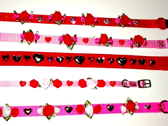 Valentines Bouquets Collars